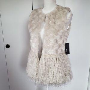 Creme/ Beige Fur Vest
